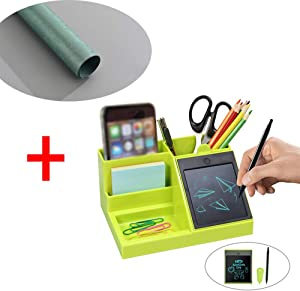 LCD Desk Storage Box Decorative Box Multi-Function LCD Pen Holder Creative Pen Holder Fashion Office Storage Simple Student Stationery Pen Holder (with a Wrapping Paper)