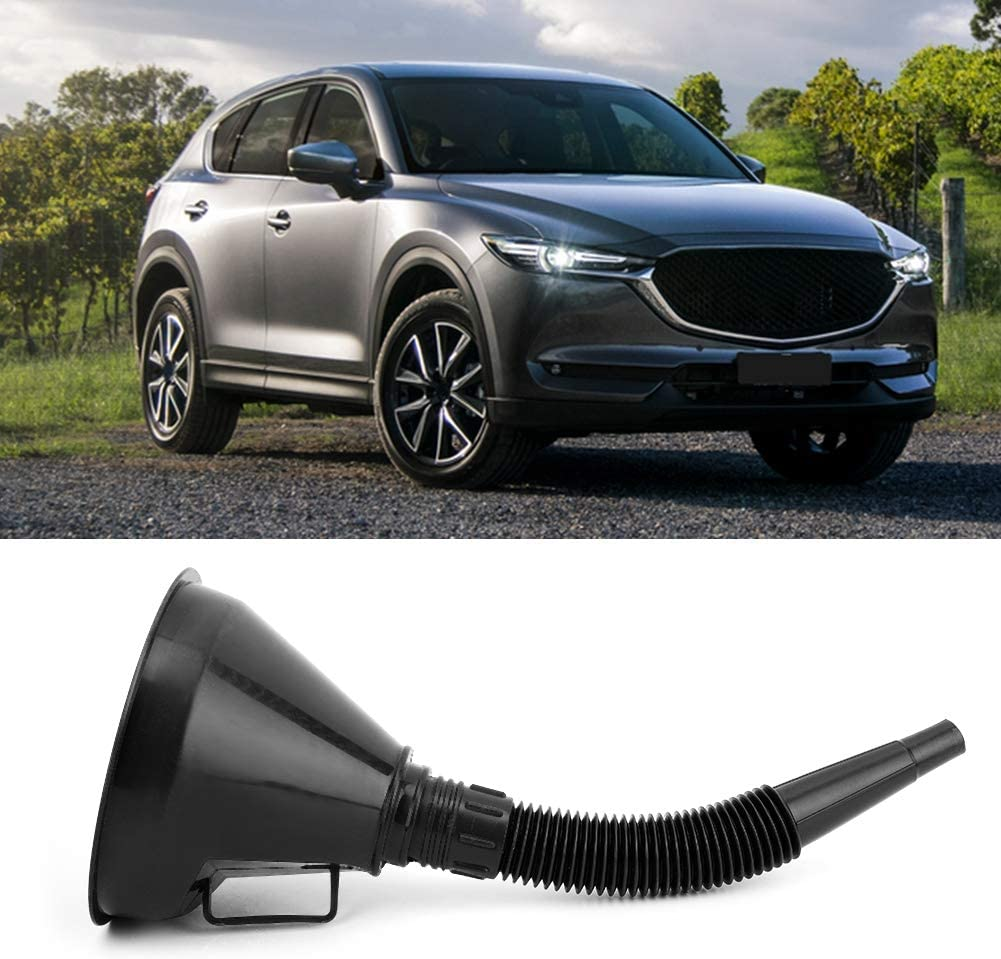 Suuonee Motorbike Funnel ABS Plastic Automobile Motorbike Car Plastic Funnel Can Spout for Oil Water Refueling Funnel with Filter