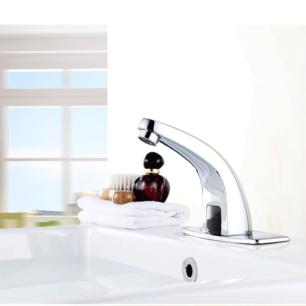 Baoblaze 13cm Alloy Automatic Infrared Sensor Water Tap Handsfree Bathroom Kitchen Sink Basin Faucet for Cold Water