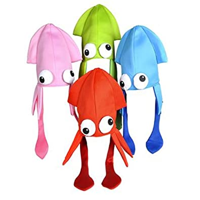 a6f0e5b4 Amazon.com: Squid Hat Mix, Assorted Colors. One Dozen.: Jewelry