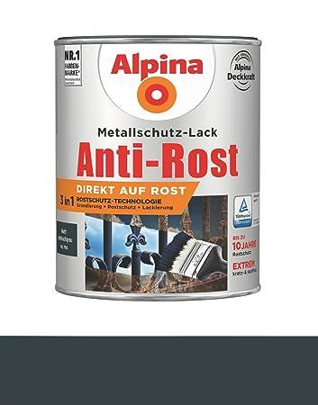 Alpina 750 Ml Metallschutz Lack 3in1 Direkt Auf Rost Ral 7016