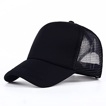 Buy Sarvoday Cotton Baseball Adjustable Black Net Cap for Men Women Online  at Low Prices in India - Amazon.in 23714a0357f