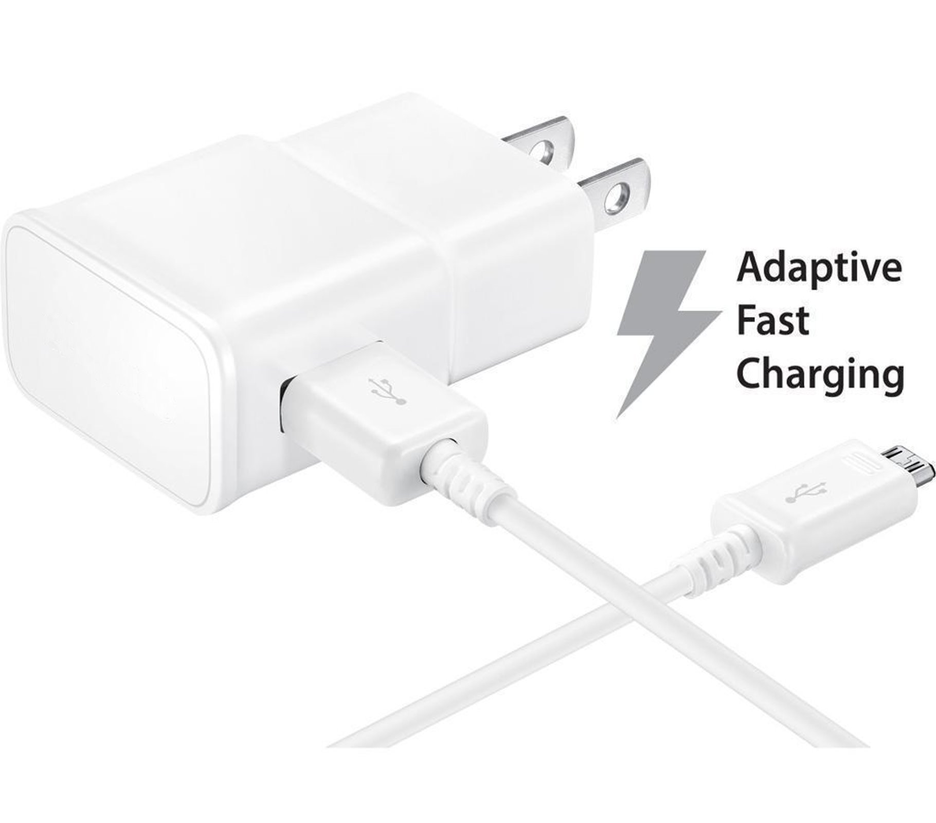 10 Pack - OEM Quick Fast Charger for Samsung Galaxy Tab S2 8.0-inch Cell Phones [Wall Charger + 5 FT Micro USB Cable] - AFC uses Dual voltages for up to 50% Fas
