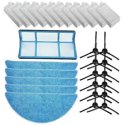 Replacement ILIFE Accessories Filter Hepa Filter Net Side Brush Mop for ILIFE V3 V3s V5 V5s
