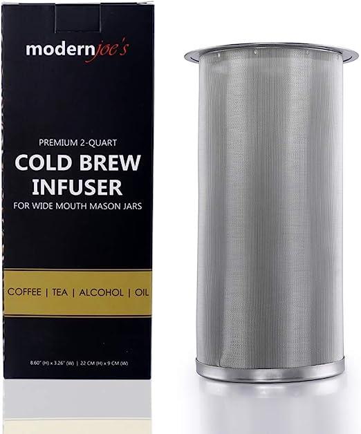 Cafetera fría de infusión premium para frascos de boca ancha de 1 ...