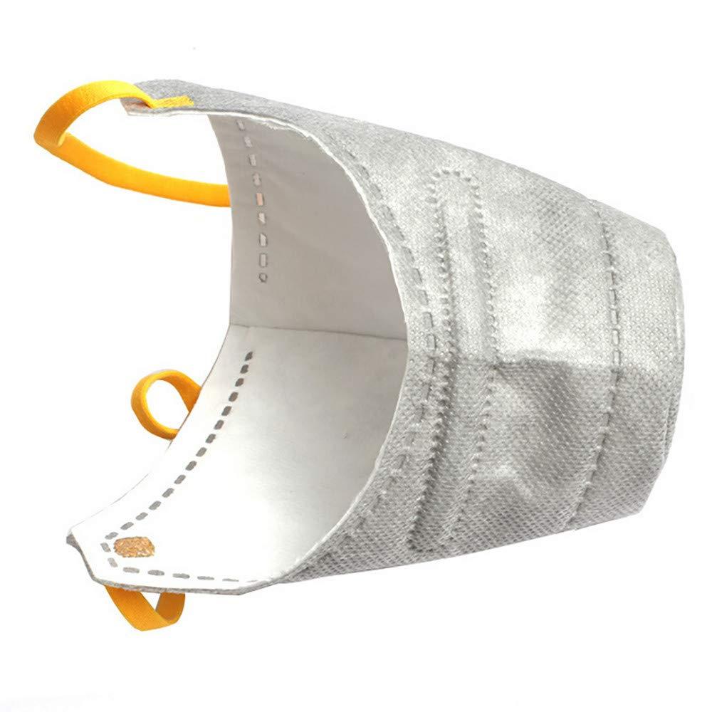 WensLTD Hot ! 3Pcs Dog Soft Cotton Mouth Mask Pet Respiratory PM2.5 Filter Anti Dust Masks (S, Gray) by WensLTD-Pet Supplies (Image #4)