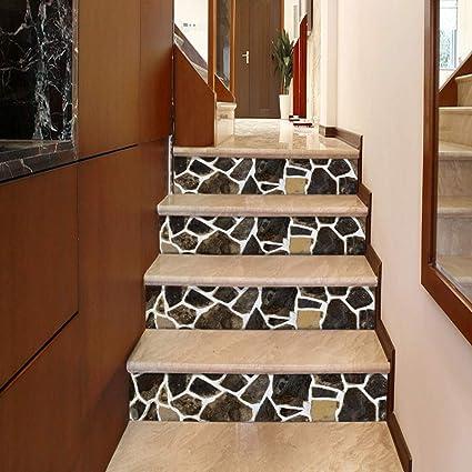 Lizhioo Autocollants D Escaliers Creative 3d Autocollants