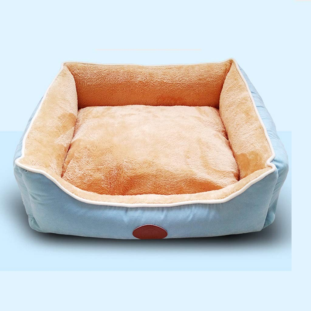 LXRZLS Warming Plush Fabric Pet Bed Suited For Cats And Small Medium Dog Cat,Rectangle Soft Pet Nest Sleeping Bed,Cushion
