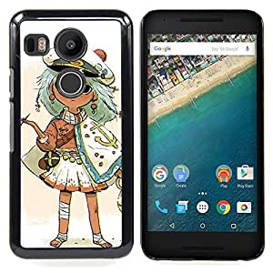 - Captain Kids Drawing Smoking Gold - - Snap-On Rugged Hard Cover Case Funny HouseFOR LG Google Nexus 5X