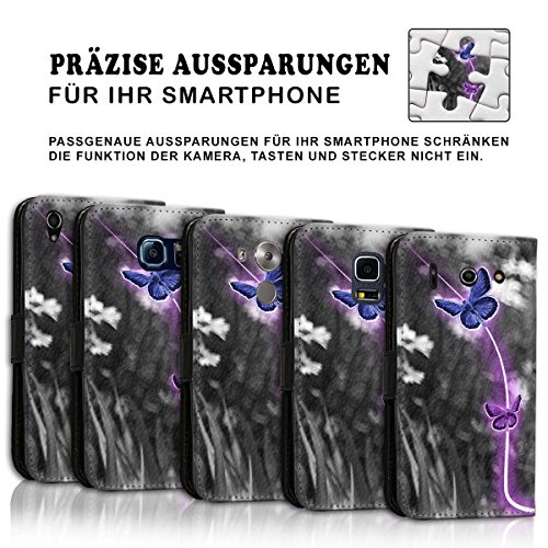 Wallet Book Style Flip Handy Tasche Case Schutz Hülle Schale Motiv Etui für Apple iPhone 6 Plus / 6S Plus - Design Flip MV169