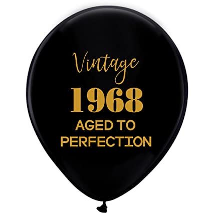 Amazon Black Vintage 1968 Balloons 12inch 16pcs Men And