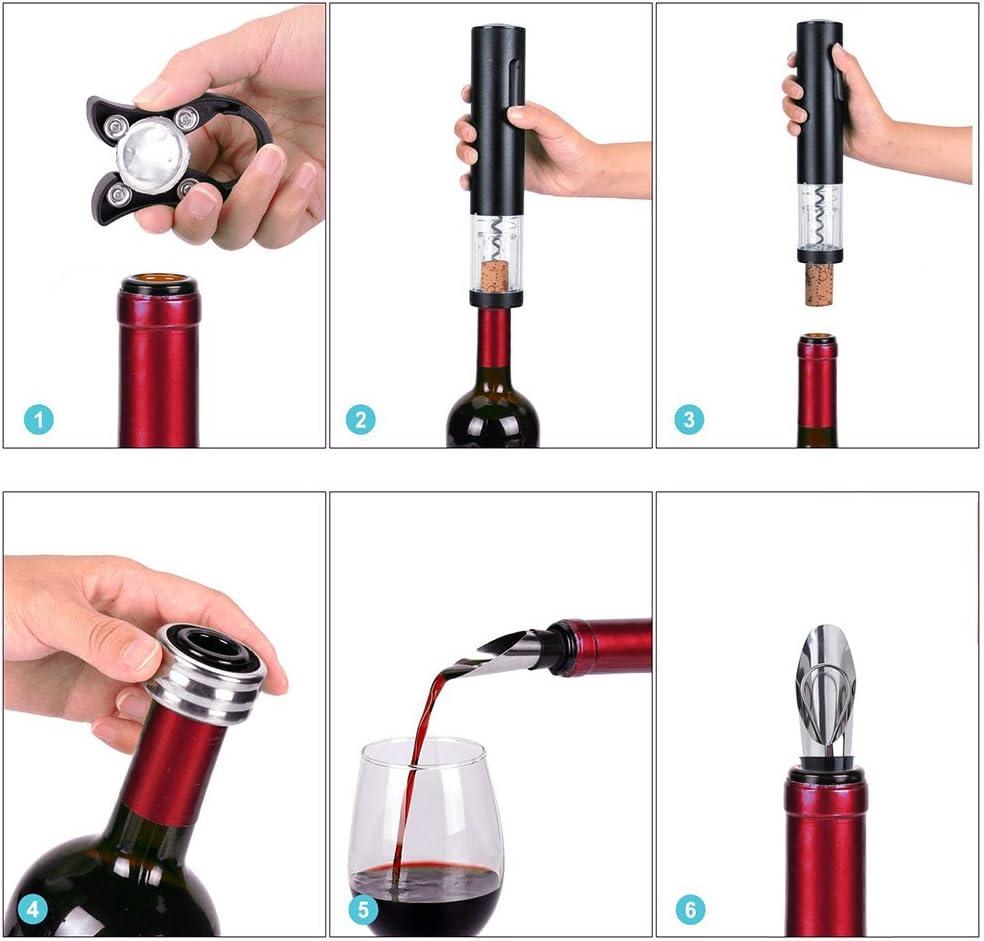 Sacacorchos para Abrir Botellas de Vino Champagne y Cerveza WOWOSS Abrebotellas para Corchos con Tap/ón de Vino