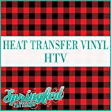 Buffalo Plaid Pattern in RED & BLACK Heat Transfer Vinyl 12''x15 Feet Roll of HTV for Shirts
