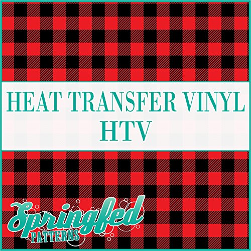 Red Buffalo Plaid HTV Roll 12 Inches x 20 Feet by Springfed Patterns