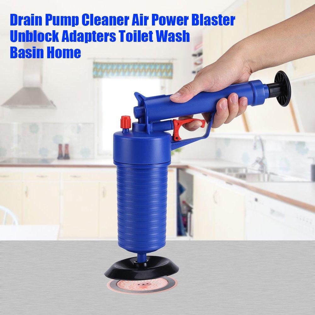 la Cuisine Wifehelper Pompe de vidange Nettoyeur Air Power Blaster D/ébloque Adaptateurs WC Lavabo pour la Maison la Salle de Bain