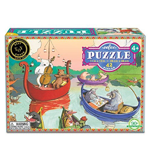 Party on the Lake 42 Piece Puzzle by eeBoo