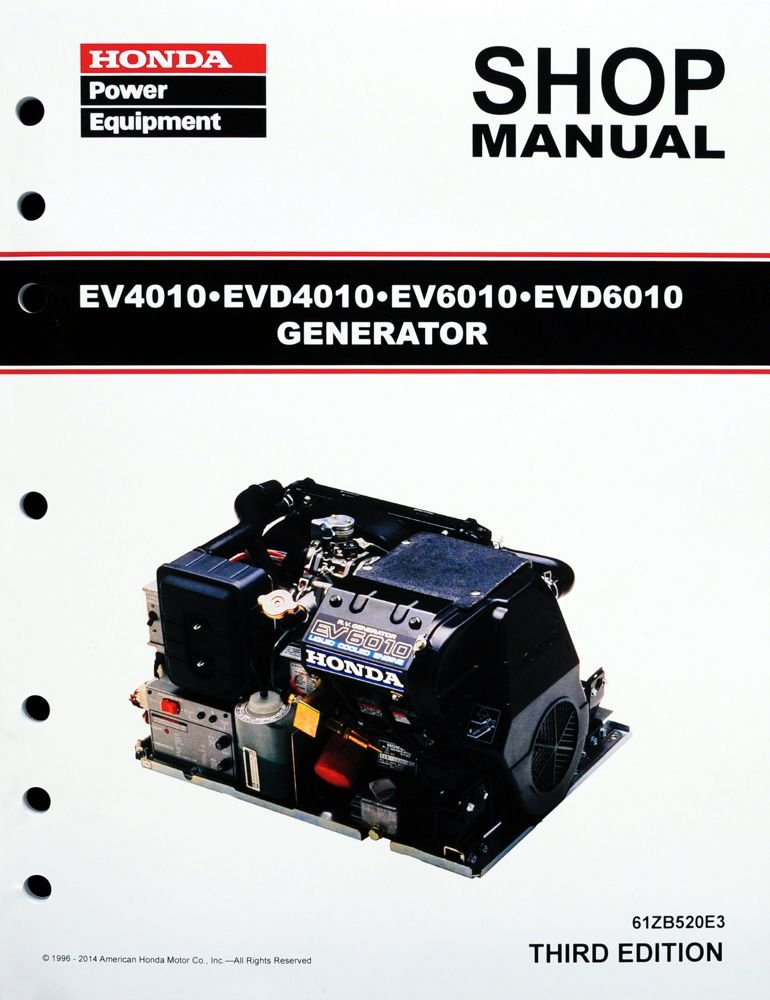 61atPuCXnaL._SL1000_ amazon com honda ev4010 ev6010 evd4010 generator service repair honda ev6010 wiring diagram at crackthecode.co