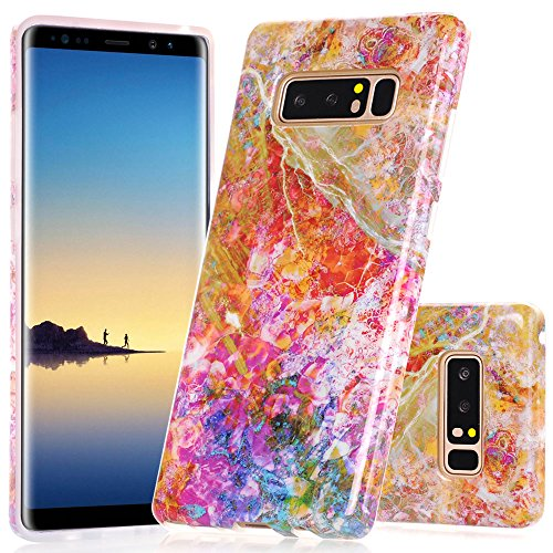 Galaxy Note 8 Case, Opal Marble Creative Design BAISRKE Slim Flexible Soft Silicone Bumper Shockproof Gel TPU Rubber Glossy Skin Cover Case for Samsung Galaxy Note 8 (2017)