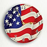 MYTIME- United States of America Flag USA American Flag Silent Wall Clock 12 inch