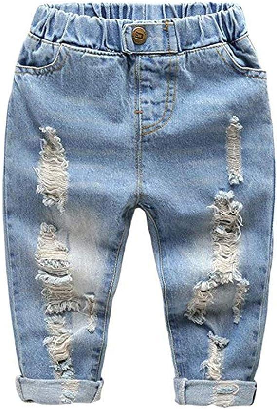 Colorcasa 2019 Jeans Rotos Estilo Vaquero Para Ninos Y Ninas Estilo Amigo Color Azul Azul 120 Cm Amazon Com Mx Ropa Zapatos Y Accesorios