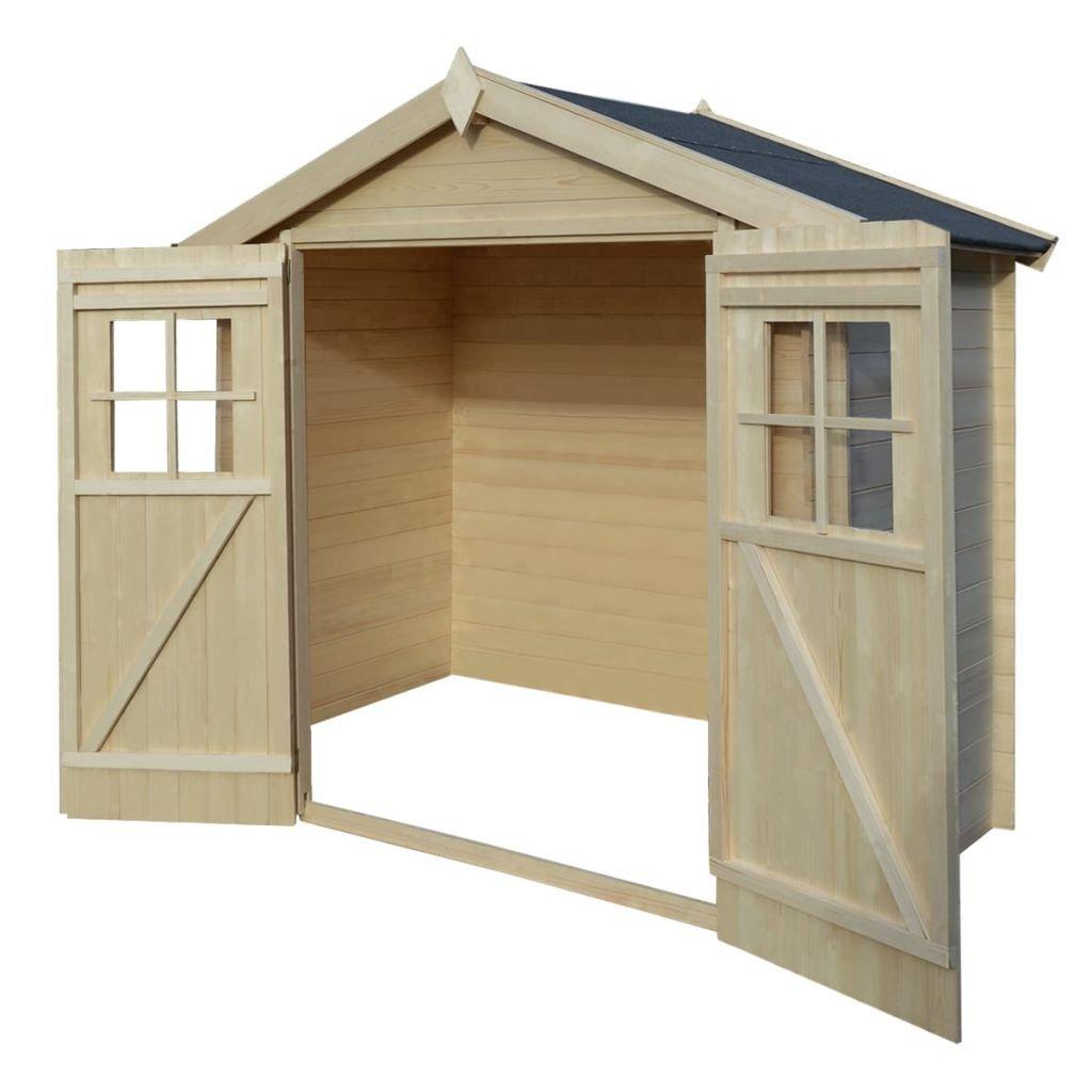 XINGLIEU Garaje de Almacenamiento casa jardín cobertizo Madera Cabina cobertizos Exterior Dimensiones Total: 2075 x 1032 x 2181 mm (L x W x H): Amazon.es: ...
