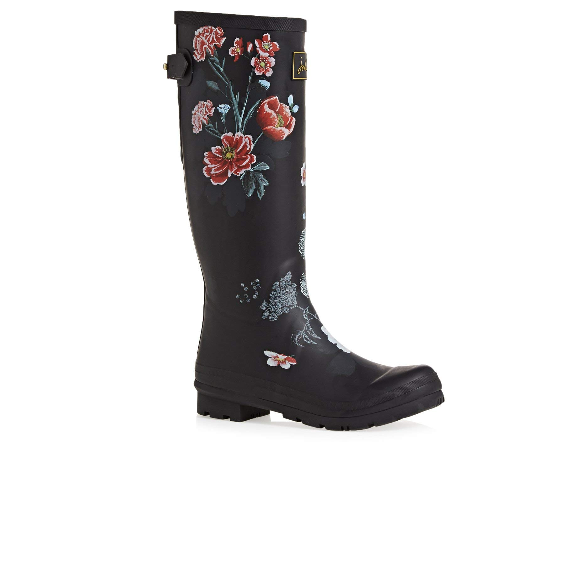Joules Women's Welly Print Black Floral 7 B US