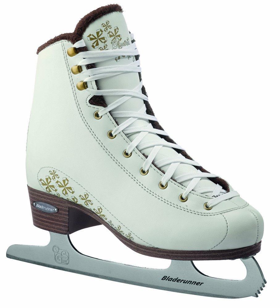Bladerunner Aurora Junior Ice Figure Skate (3, White/Gold)