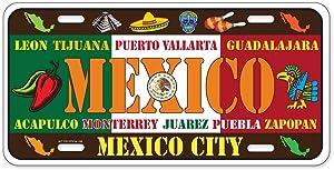 Dimension 9 Home Decorative Plates, Mexico