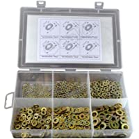 TheCoolio 600pcs of Assorted Plain (Flat) Washers