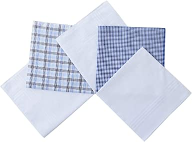 Men/'s White 100/% Cotton Handkerchiefs Hanky  Pocket Square 12 Pack 16 x 16