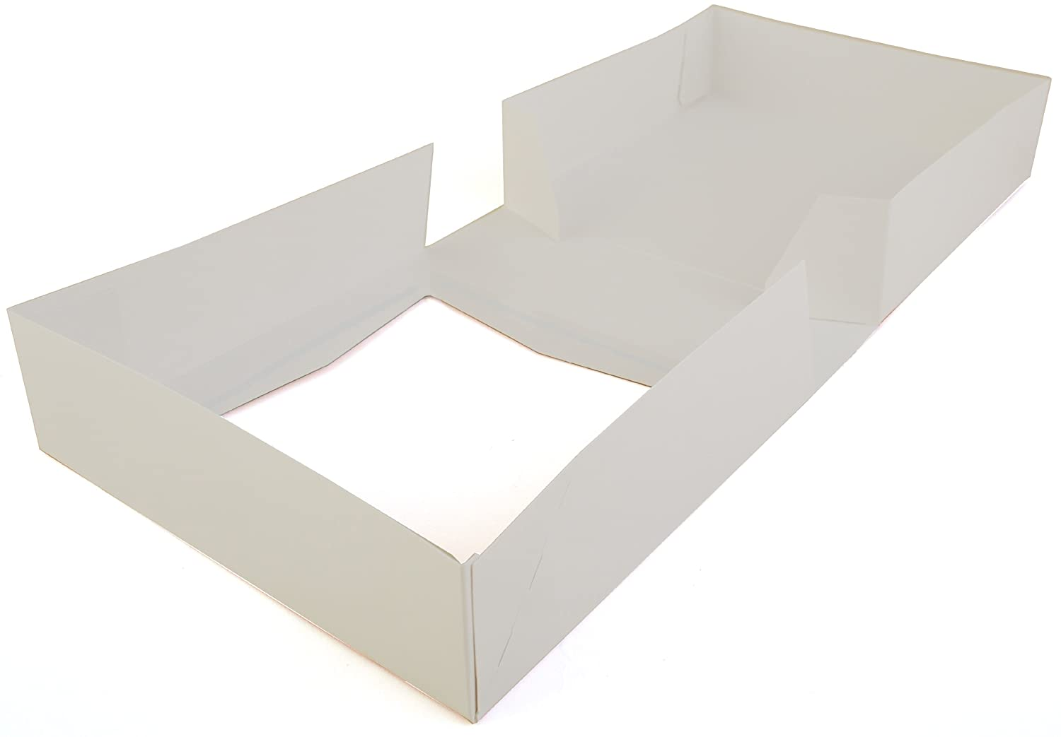 Case of 200 9 Length x 9 Width x 2-1//2 Height Southern Champion Tray 24133 White Paperboard Window Bakery Box