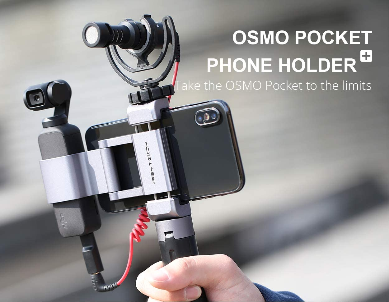 RC GearPro para dji Osmo Pocket Aluminum Handheld Phone Holder ...