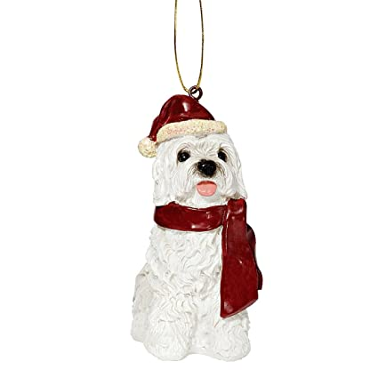 design toscano christmas ornaments xmas maltese holiday dog ornaments