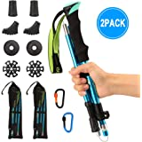 Barwa Nordic Walking Trekking Poles with Quick Lock System, Folding, Collapsible, Ultralight for Hiking, Camping, Mountaining, Walking, Trekking