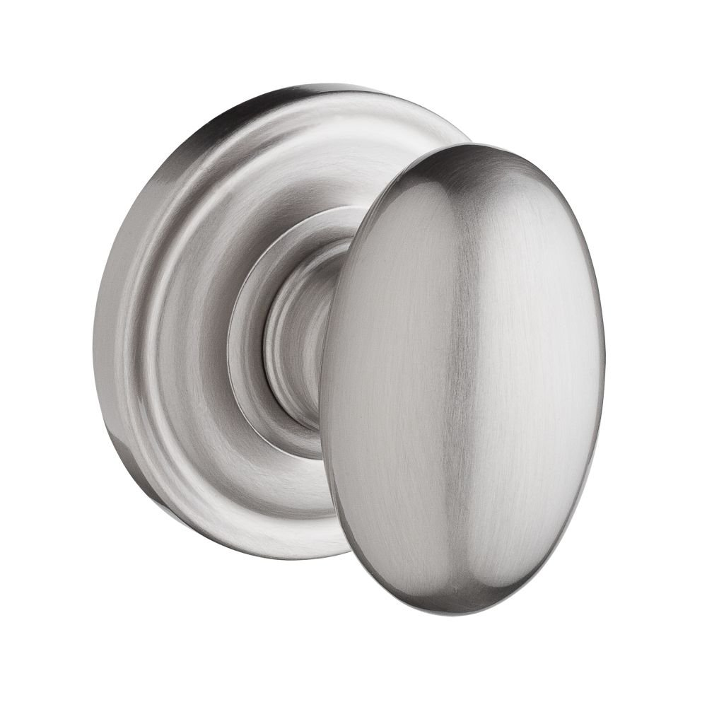 Baldwin Reserve 9BR3520-023 Traditional Ellipse Passage Knob in Satin Nickel