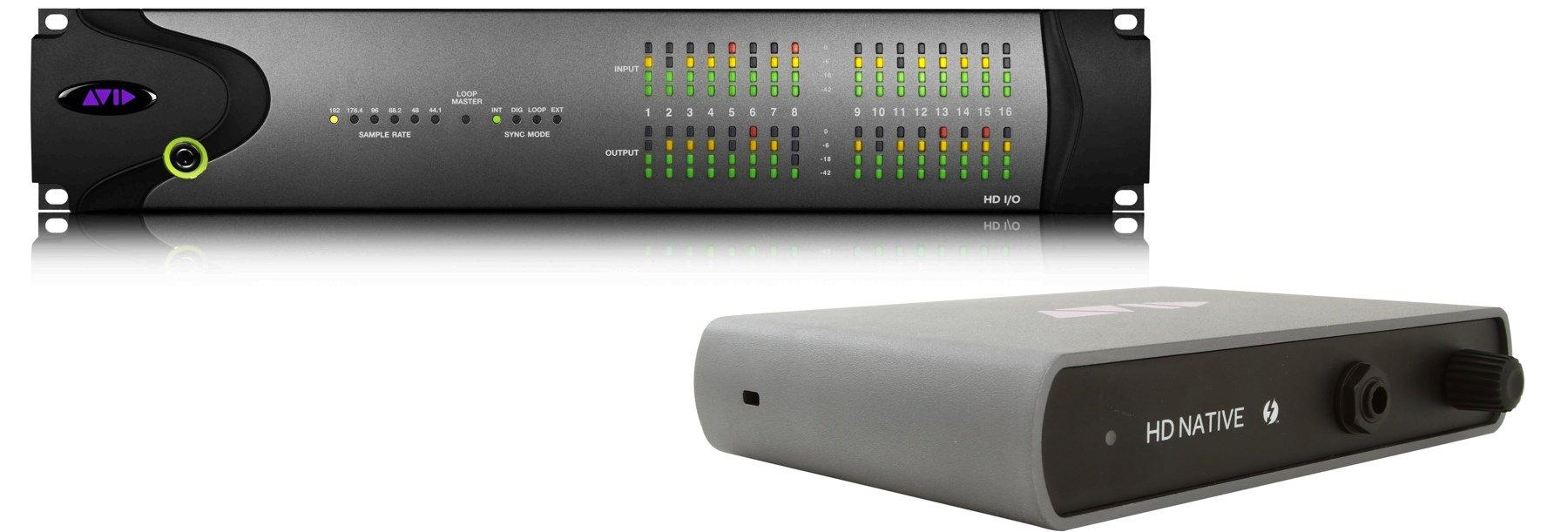 Avid Pro Tools HD Native Thunderbolt & HD I/O 16x16 Analog System