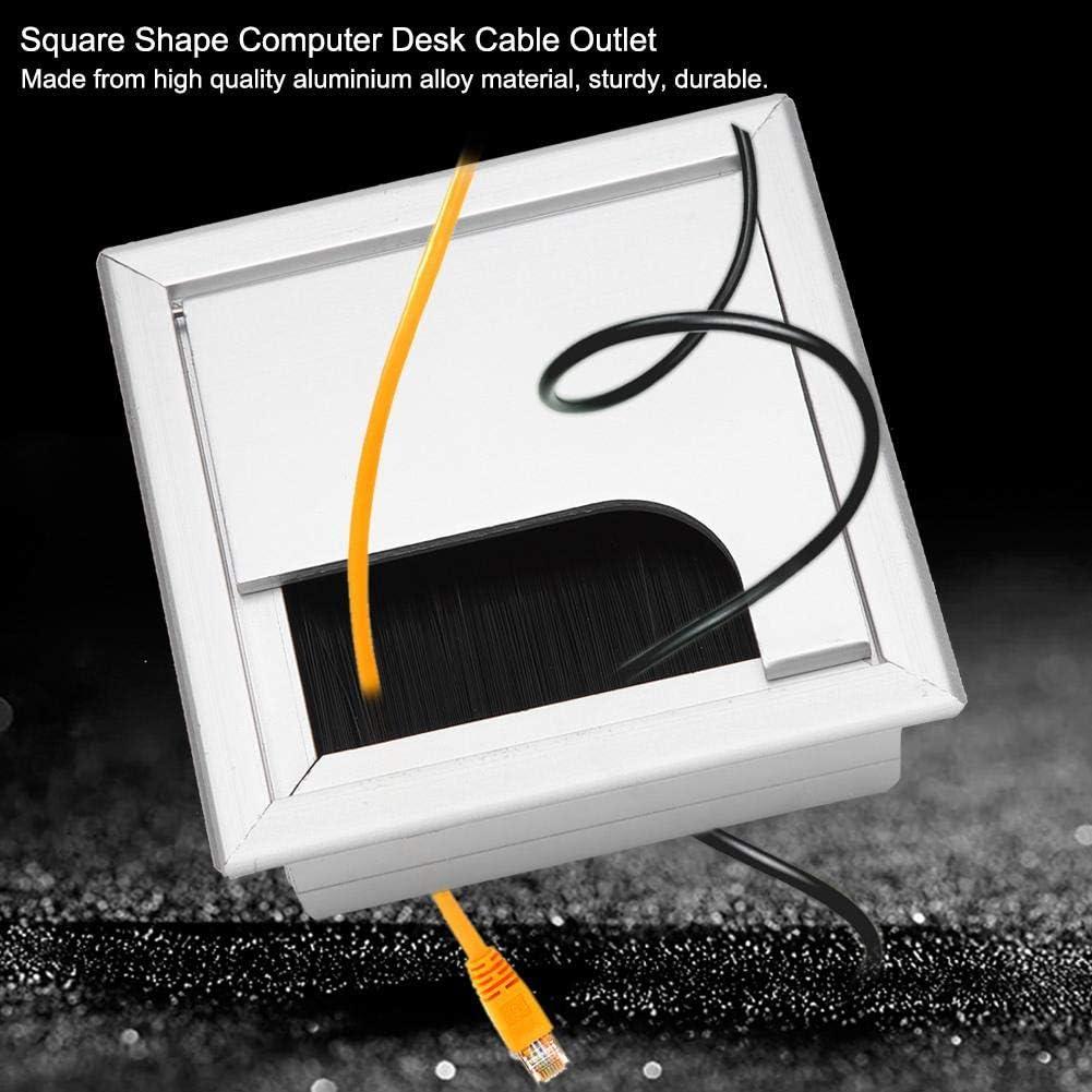 Presa per copertura del foro del filo dellotturatore del PC quadrato Scrivania del passacavo del computer Small