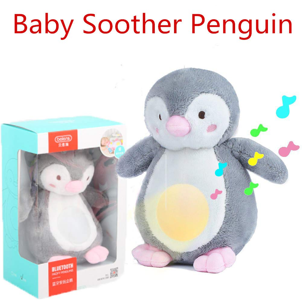 xingxinqi Sleep Aid Night Light and White Noise Sound Machine Penguin Decor Nursery & Portable Soother Stuffed Animals Plush Toy