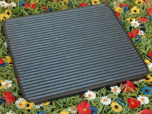 Skeppshult Reversible Grill & Griddle, 13 x 14 inch: Made of cast Iron in Sweden