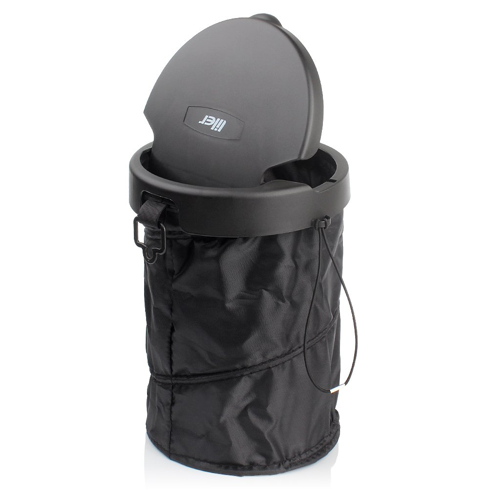 LILER Universal Traveling Portable Car Trash Can - Collapsible Pop-up Trash Bin with Cover LILER CA