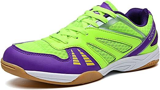 FJJLOVE Hombres Zapatos Tenis De Mesa, Bádminton Usable De Calzado ...