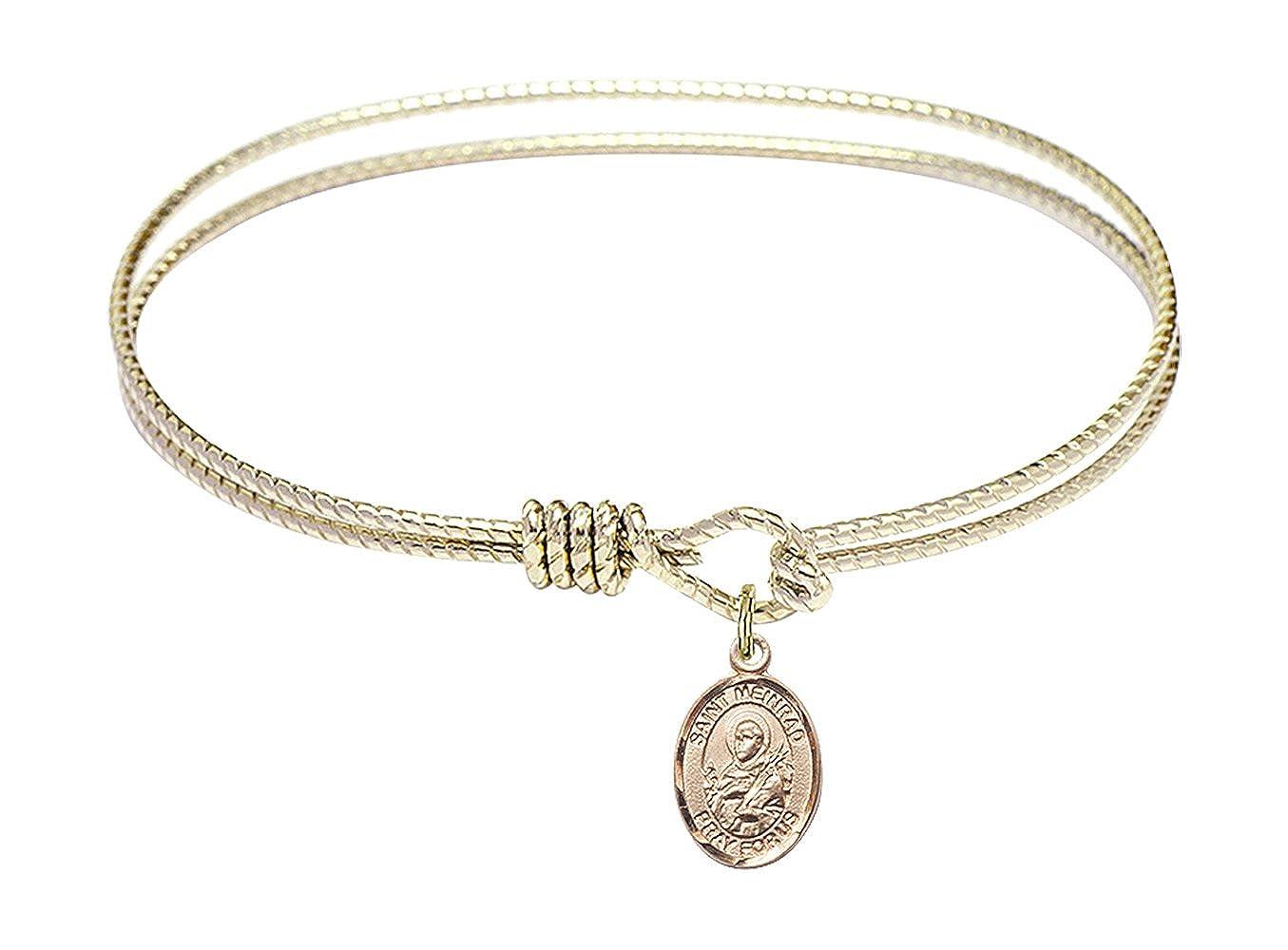 Meinrad of Einsiedeln Charm. DiamondJewelryNY Eye Hook Bangle Bracelet with a St
