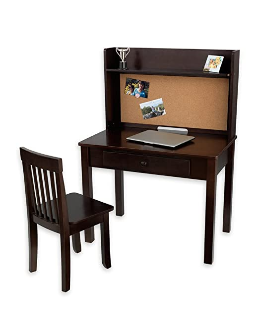 amazoncom kidkraft pinboard desk with hutch and by toys u0026 games