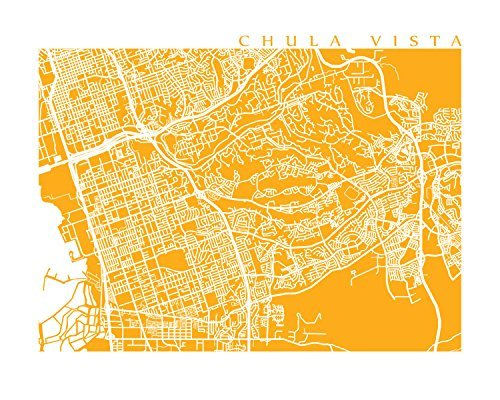 Chula Vista Map Print - Vista 10 Chula