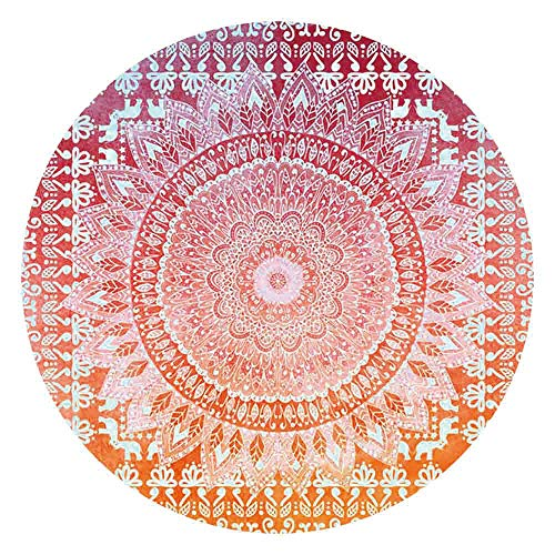 Round Circle Beach Tapestry,Loneflash Bohemian Round Tapestry Beach Picnic Yoga Mat Towel Blanket Bedspread Bed Cover Bedding Picnic Blanket Beach Sheet