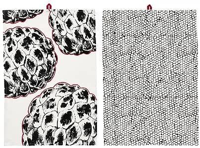 IKEA ¡VANJA - toalla de té, patrones variados blanco/negro/ , 2 paquete/ , 2 - 50 x 70 cm paquete