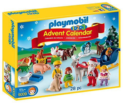 PLAYMOBIL 1.2.3 Advent Calendar Christmas on the Farm Building Set