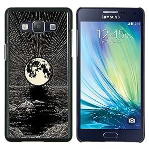 "Be-Star Único Patrón Plástico Duro Fundas Cover Cubre Hard Case Cover Para Samsung Galaxy A5 / SM-A500 ( Luna Dibujo al lápiz tinta Mar Noche"" )"