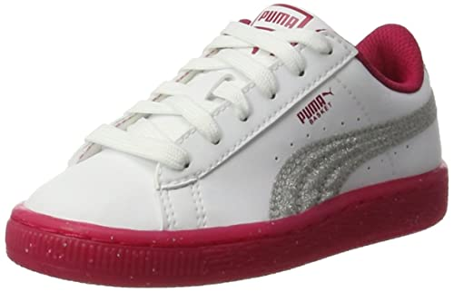 Puma Basket Iced Glitter 2 PS, Zapatillas Unisex Niños: Amazon.es: Zapatos y complementos