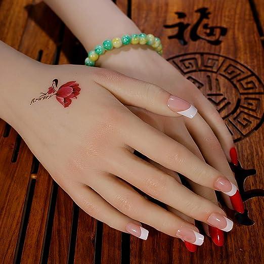 CUTICATE 1 Par De Uñas De Arte Práctica Tatuaje Maniquí Pulsera ...